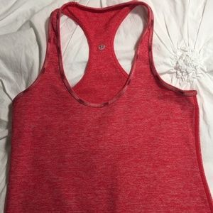 Lululemon Size 4 Red Tank Top